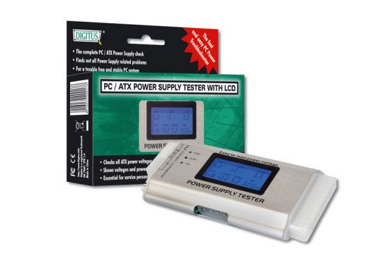 Digitus tester ATX zdrojů III (24-pin), LCD display
