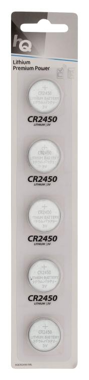 HQ lithiová knoflíková baterie CR2450 3 V, blistr 5 ks