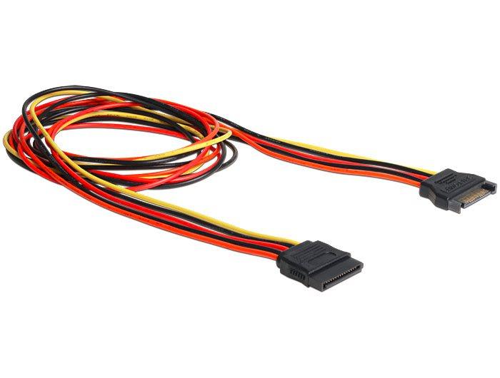 Delock prodlužovací napájecí kabel SATA 15 Pin (M) > SATA 15 Pin (F) 100 cm