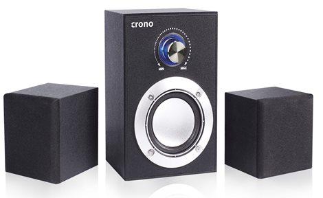 Crono CS-2106C - reproduktory 2.1, 10 W, černé