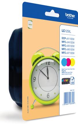 LC-125XLRBWBP (inkoust multipack - 3 barvy C/M/Y)