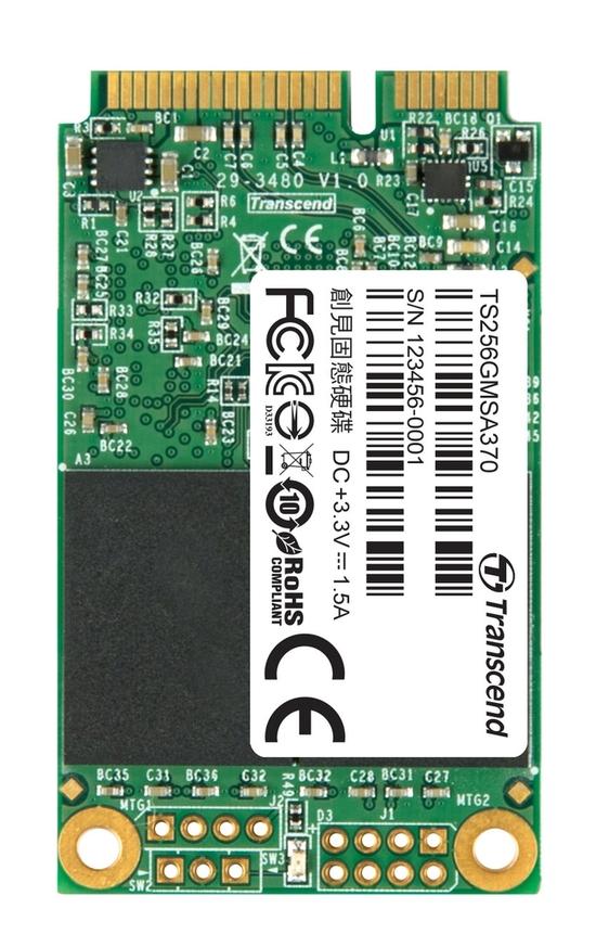 Transcend MSA370 256GB mSATA SSD 6GB/s, MLC, MO-300A