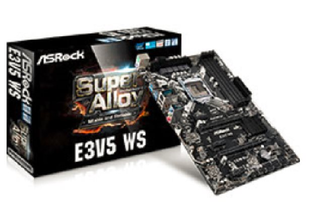 ASRock E3V5 WS, 1151, 4xDDR4 2133 +ECC, USB3.0, 6xSATA3 +RAID, 7.1, ATX