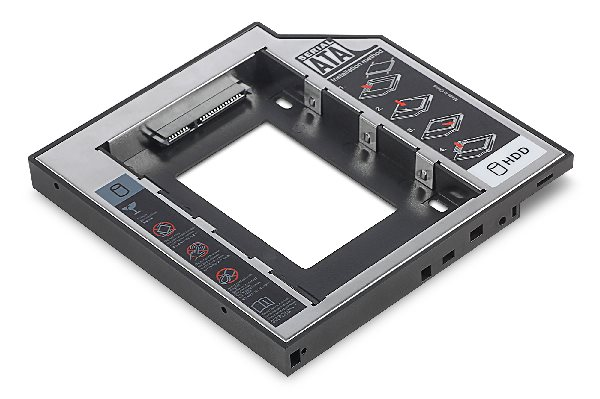 Digitus 2nd SSD/HDD Caddy SATA to SATA III Supports 2.5 SSD or HDD with SATA I-III, 129x128x12,7 mm