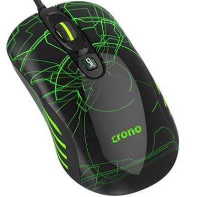 Crono OP-636G - herní laserová myš, 800/1600/3200 DPI, LED podsvícení, USB