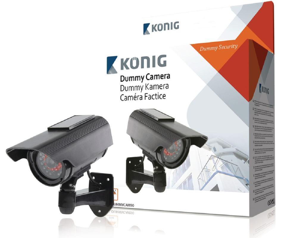 König SAS-DUMMYCAM90 - atrapa venkovní kamery, solar, aktivní IR