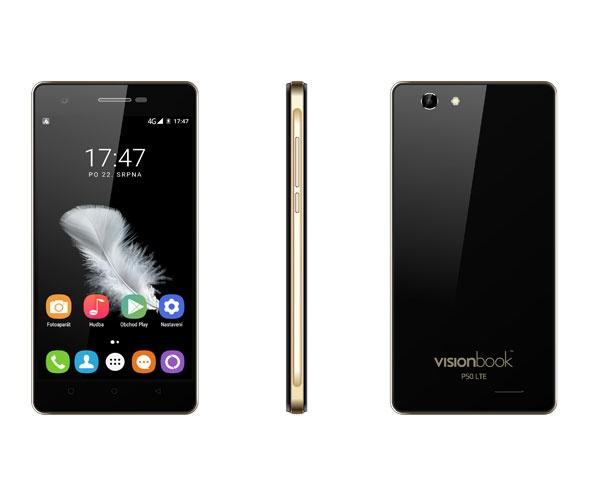 UMAX VisionBook P50 Black/5´´ IPS 720x1280/1,3GHz QC/1GB/8GB/SD/2xSIM/5MPx/2000mAh