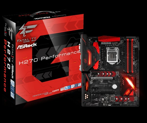 ASRock H270 Performance, INTEL H270 Series,LGA1151,4 DDR4,3xM.2(2for SSD,1WiFi)