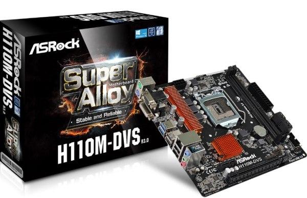 ASROCK MB H110M-DVS R3.0 (intel 1151, 2x DDR4, GLAN, SATA3, USB3, VGA+DVI, mATX)