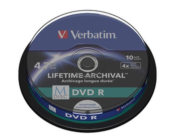 VERBATIM M-Disc DVD R(10-pack)Spindle/4x/4.7GB