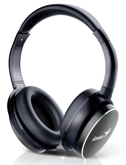 GENIUS headset - HS-940BT/ sluchátka s mikrofonem/ Bluetooth 4.1/ dobíjecí/ černé