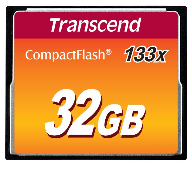 Transcend 32GB CF (133X) paměťová karta (MLC)