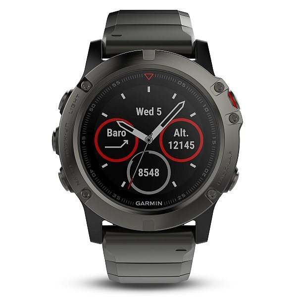 Garmin fenix5X Sapphire Gray Optic, Metal band