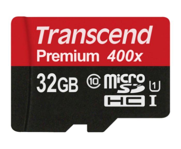 Transcend 32GB microSDHC UHS-I 400x Premium (Class 10) paměťová karta (bez adaptéru)