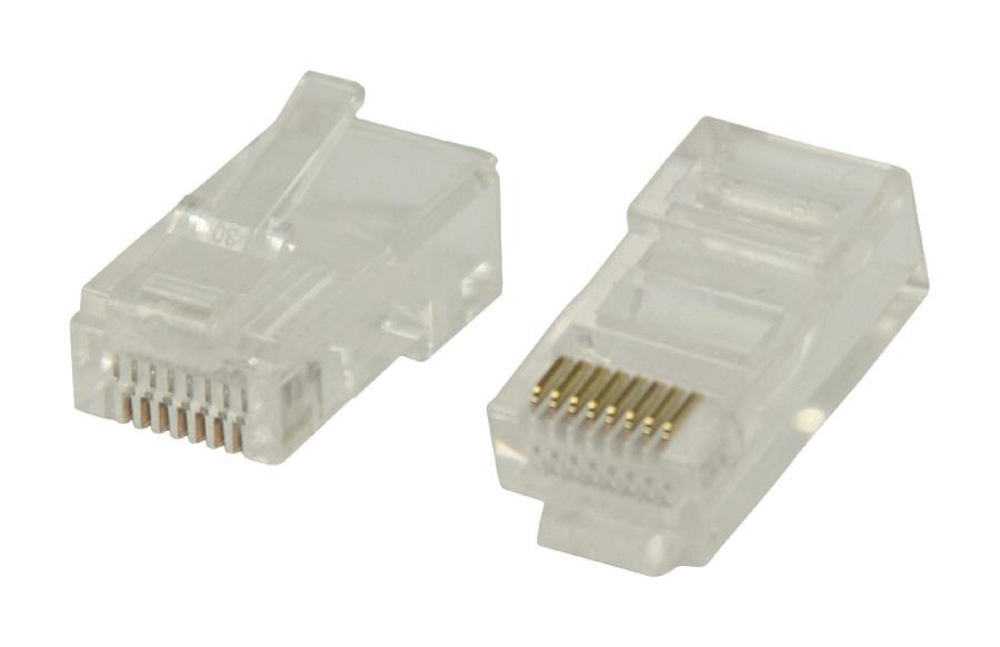 Valueline konektory RJ45 pro UTP CAT5 kabely s drátovými vodiči, 10 ks