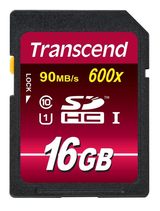 Transcend 16GB SDHC (Class 10) UHS-I 600x (Ultimate) MLC paměťová karta