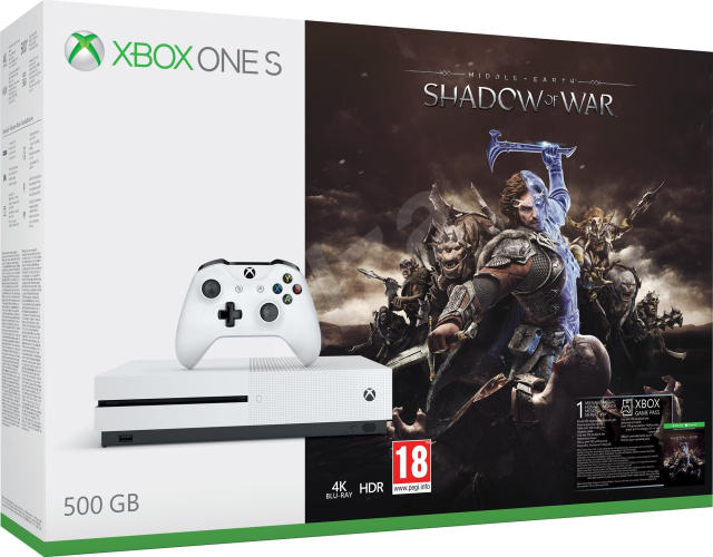 XBOX ONE S - 500GB + Middle-Earth: Shadow of War
