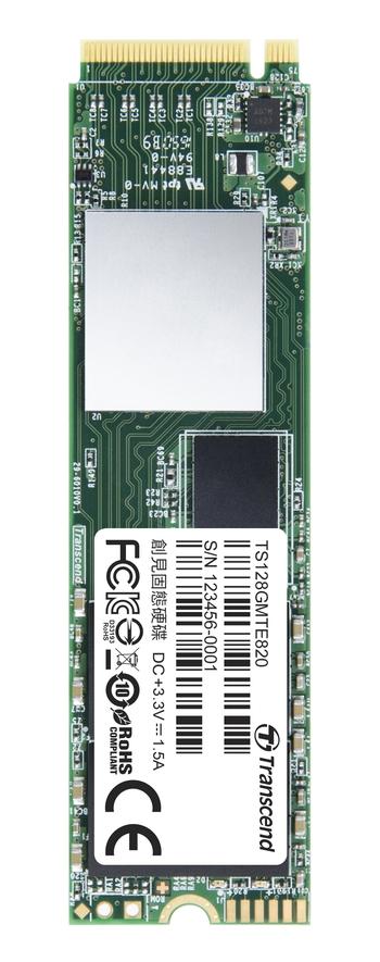 Transcend SSD M.2 MTE820 128GB, (čtení/zápis; 650/560MB/s) PCIe Gen 3x4