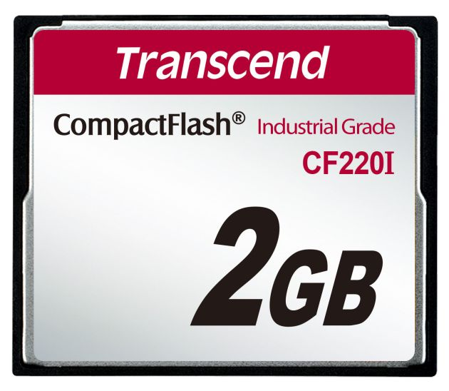 Transcend 2GB INDUSTRIAL TEMP CF220I CF CARD (SLC) Fixed disk and UDMA5