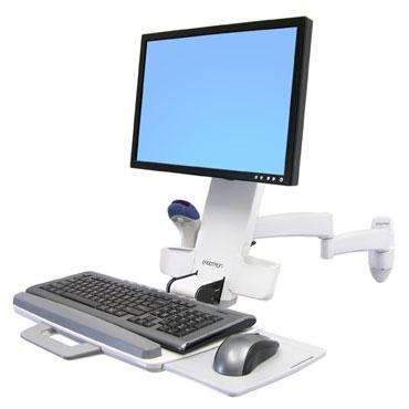 ERGOTRON 200 Series Combo Arm bílý, nástěnný držák LCD, klávesnice+ myš