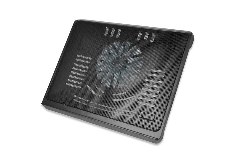 """Ednet. - Chladící podložka pro notebook, až 17,3"""", 140mm ventilátor, černá"""