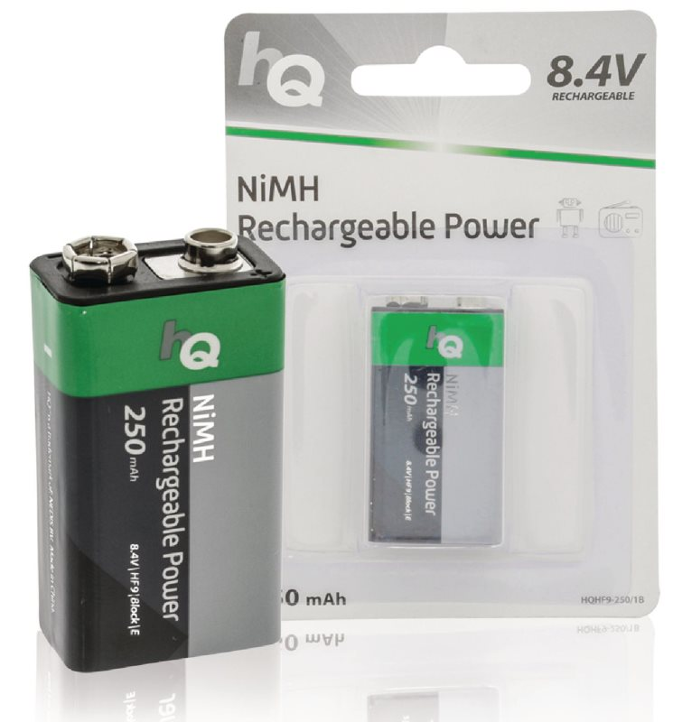 HQ 9V 250 mAh - dobíjecí NiMH baterie, 1 kus