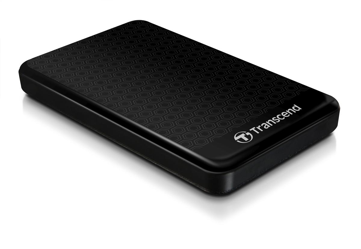 """TRANSCEND 2TB StoreJet 25A3, USB 3.0, 2.5"""" Stylový externí odolný hard disk, černý se vzorem"""