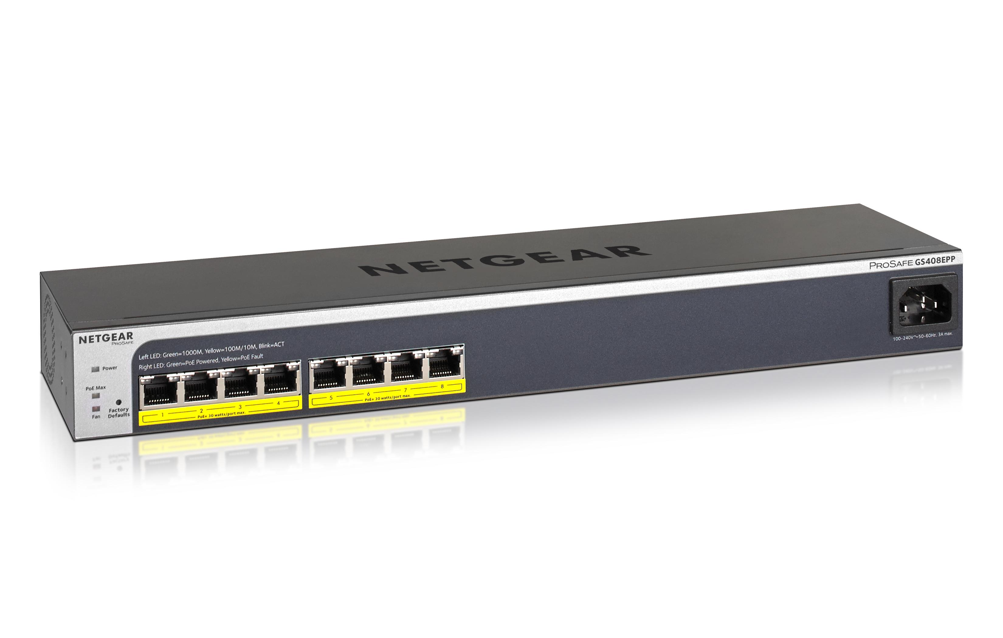 NETGEAR 8xGb Web Managed Switch s 8 PoE+