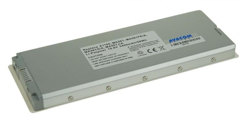 "AVACOM baterie pro Apple MacBook 13"" A1185 Li-Pol 10,8V 5400mAh/58Wh white"