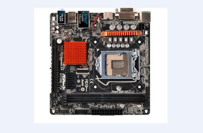 ASRock H110M-ITX, 1151, 2x DDR4, DVI+HDMI, SATA3, USB3, GLAN, miniITX