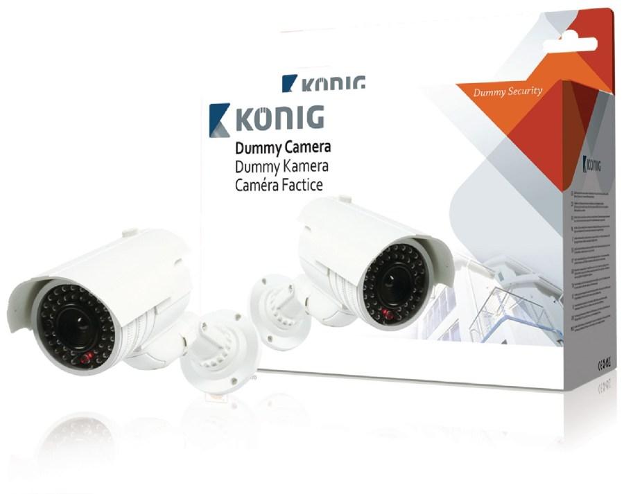 König SAS-DUMMYCAM80 - Válcová Atrapa Kamery IP65 Bílá