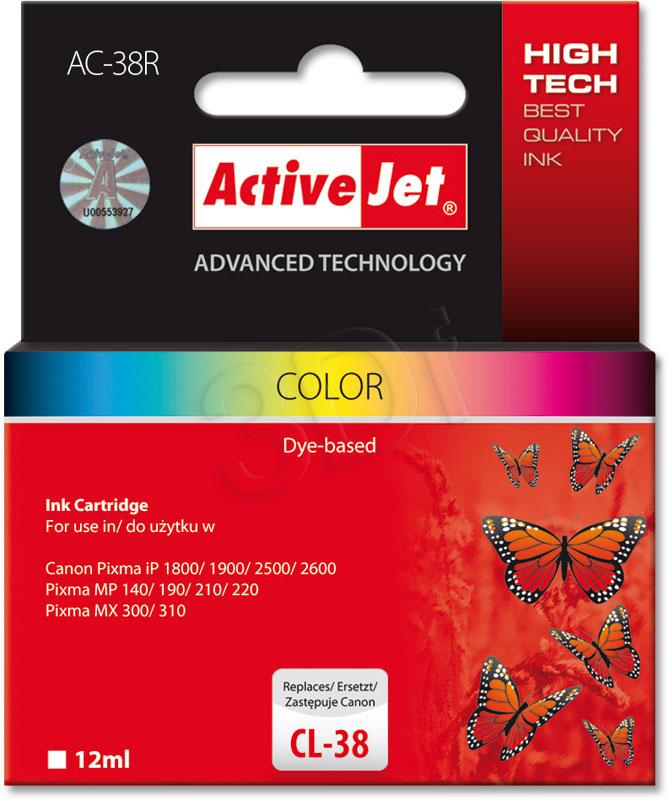 Inkoust ActiveJet AC-38R | Color | 12 ml | Refill | Canon CL-38
