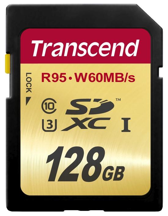 Transcend SDXC karta 128GB Class10 UHS-I U3 (čtení/zápis: 95/60MB/s)