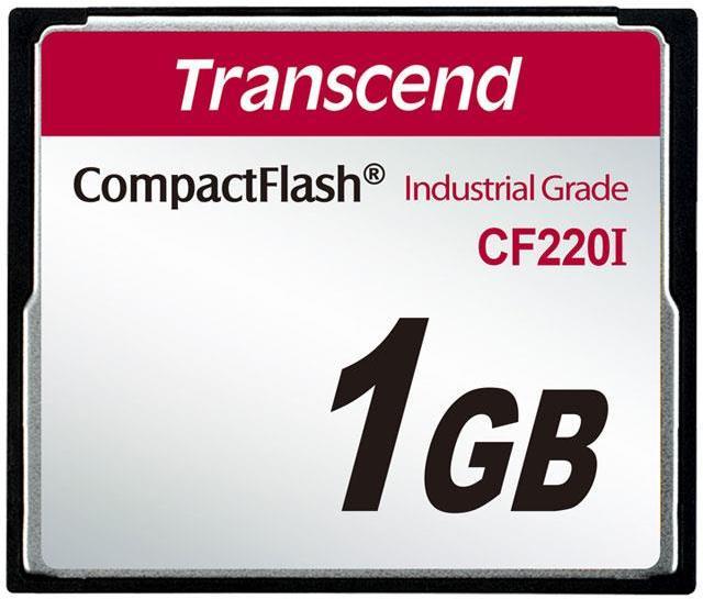 Transcend 1GB INDUSTRIAL TEMP CF220I CF CARD (SLC) Fixed disk and UDMA5
