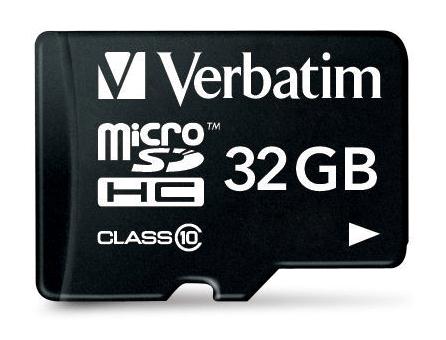 Verbatim MicroSDHC 32GB Class10 s adaptérem