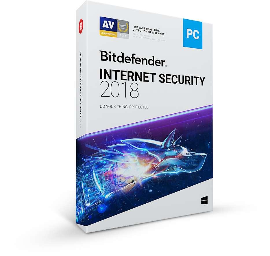 Bitdefender Internet Security 2018, 3 PC, 12 měsíců - (ESD)