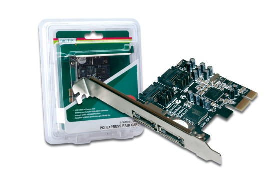 Digitus PCI Express SATA II Card, int:2xSATA/ex:2xeSATA, selectable Silicon Image 3132 chipset