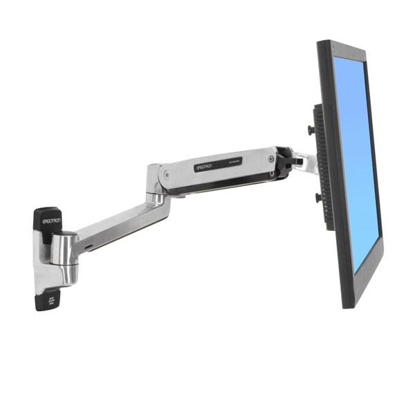 """ERGOTRON LX Sit-Stand Wall Mount LCD Arm, Polished - flexibilní nástěnný držák pro minitory max. 42"""""""