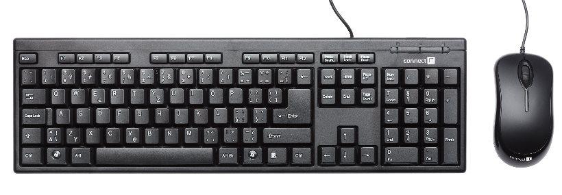 CONNECT IT set klávesnice + myš, USB drátové COMBO