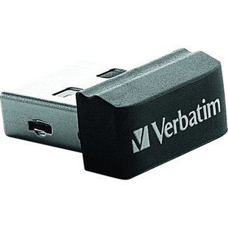 Verbatim USB DRIVE 2.0 NANO 8GB STORE 'N' STAY + OTG Adapter