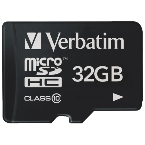 VERBATIM Micro SecureDigital SDHC 32GB Class 10 + SD adaptér