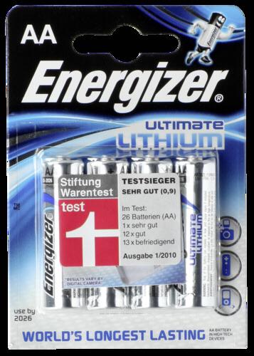 1x4 ENERGIZER Ultimate Lithium Mignon AA LR 6 1,5V
