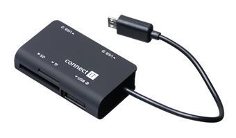 CONNECT IT čtečka paměťových karet + USB hub pro Samsung, micro USB