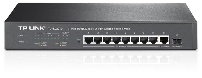 TP-Link TL-SL2210 8x 10/100Mbps + 2x Gb