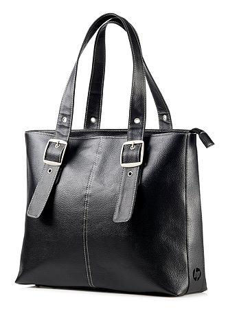 """HP 15,6"""" Dámská kožená kabelka černá"""