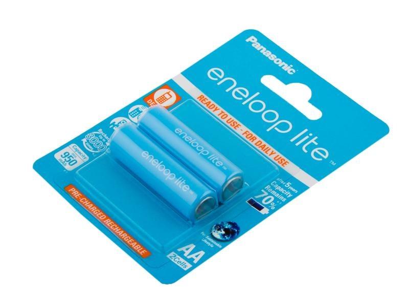 Nabíjecí baterie AA Panasonic Eneloop Lite 950mAh Ni-MH 2ks Blistr - 3000 nabíjecích cyklů