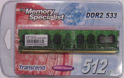 Transcend DDR2 512MB 533MHz CL4
