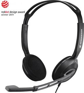 SENNHEISER PC 230 black (černá) headset - oboustranná sluchátka s mikrofonem, ovládání hlasitosti