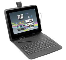 Tracer pouzdro pro tablet 7'' s klávesnicí, mini USB, eko kůže, černé