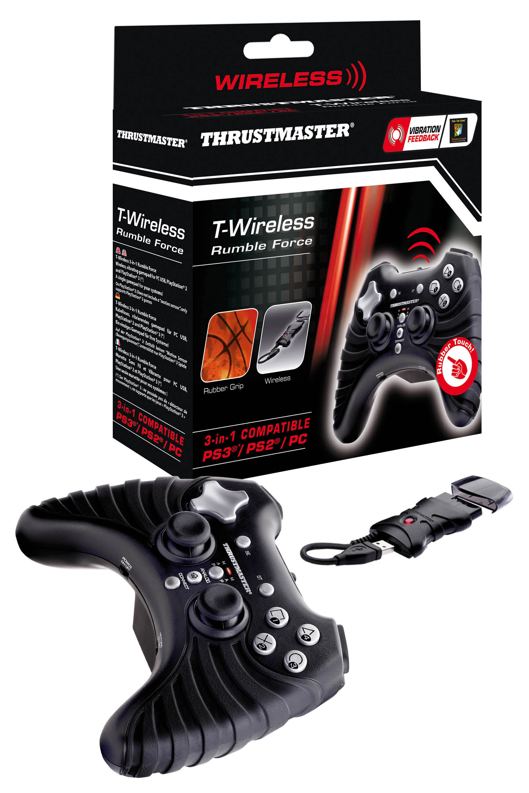 Thrustmaster Bezdrátový Gamepad 3 v 1 rumble force, pro PC, PS 2, PS 3